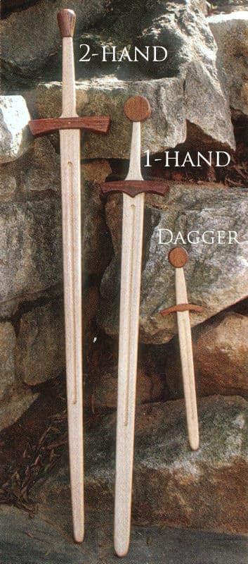 Puinen yhden käden miekka