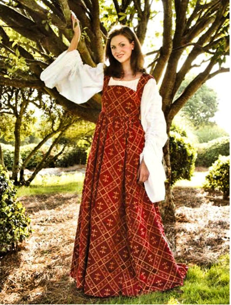 Viininpunainen Fleur de lis mekko
