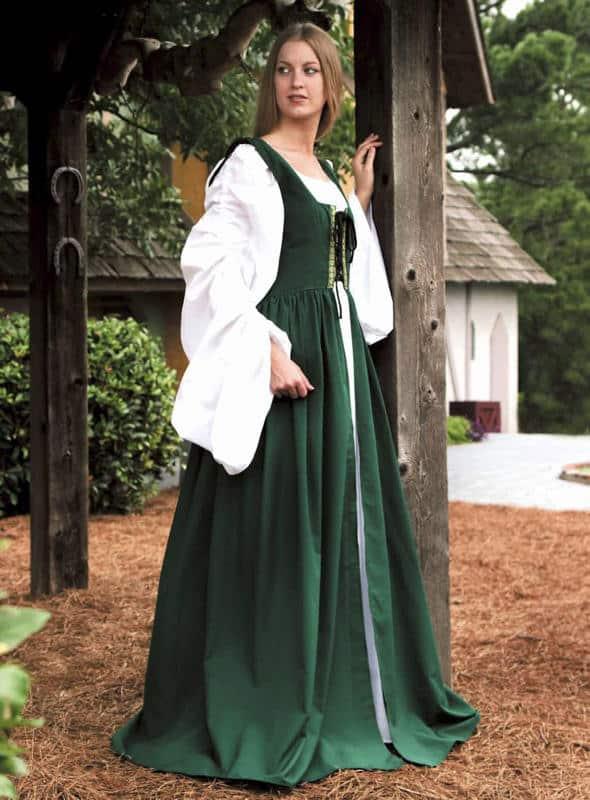 Vihreä neidon mekko