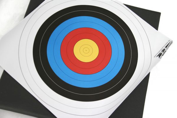Paperinen jousiammuntataulu 60 x 60 cm