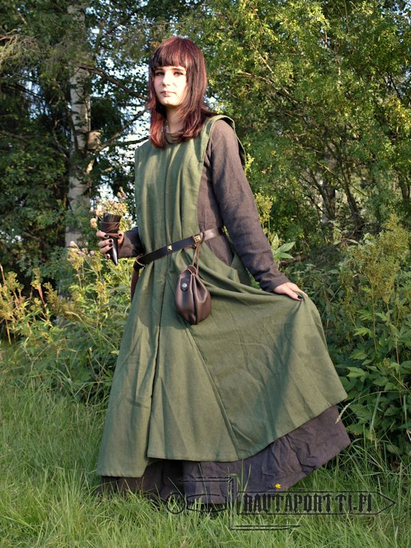 Green Early Medieval Surcoat