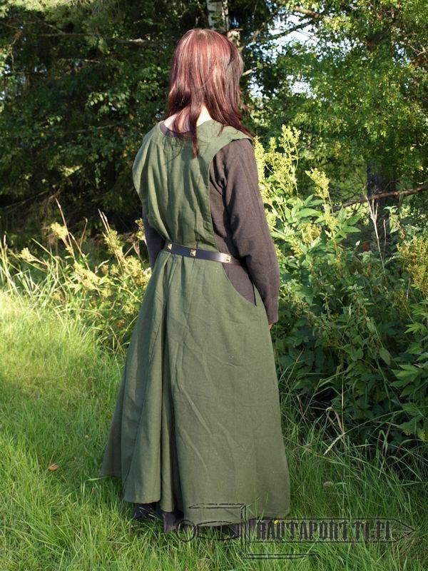 Vihreä päällysmekko/esiliinamekko